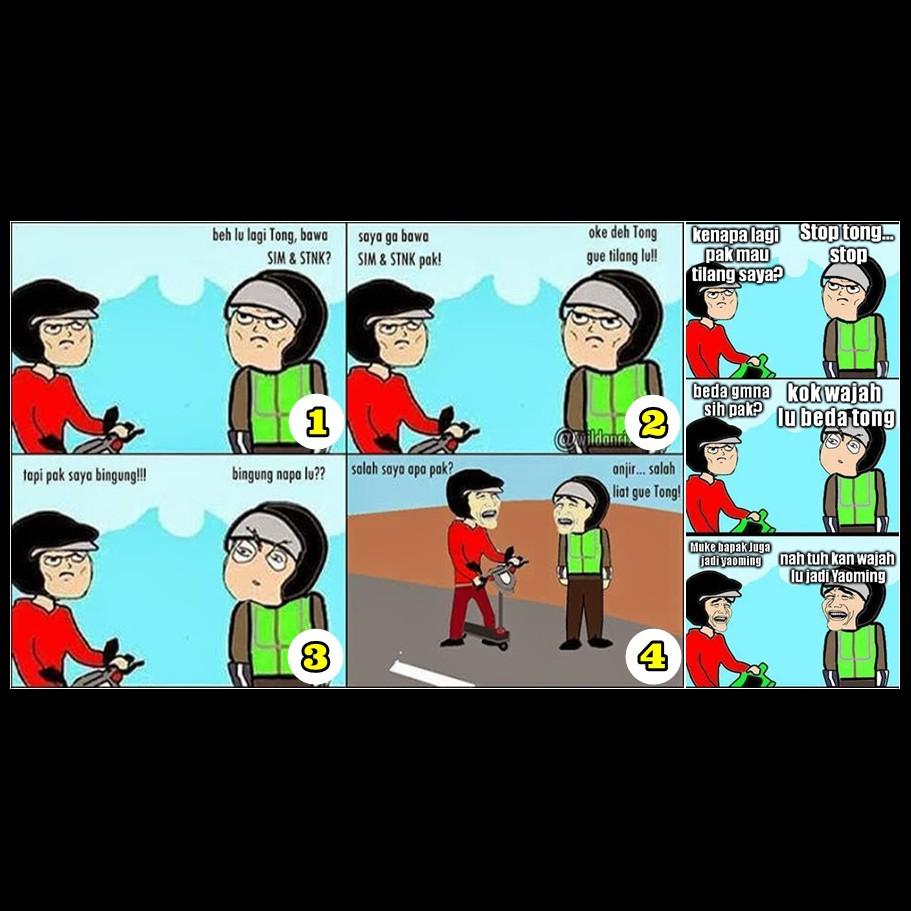 21 Komik strip super kocak kisah Otong dan Pak Polisi